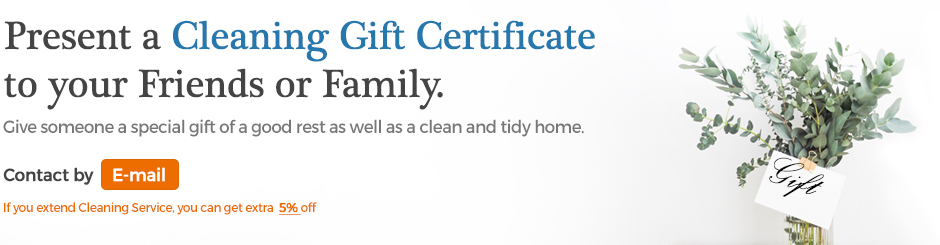 Cleaning Gift Certificates